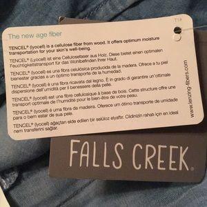 Falls Creek Tops - NWT 2X Falls Creek Denim Pullover
